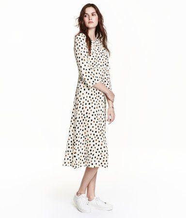 67238c758089 Mønstret lang kjole