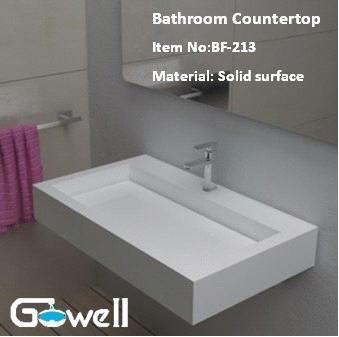 Great Acrylic Solid Surface Bathroom Vanity Top (TS 213)   China Acrylic Solid  Surface Nice Look