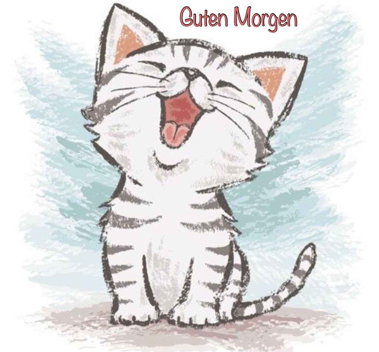 Pin Von Beatrix Schulz Auf Guten Morgen Katze Zeichnen