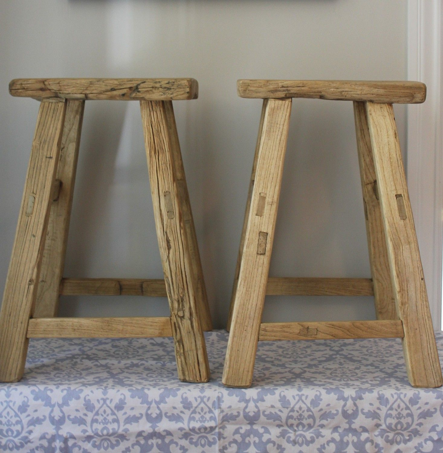 Reclaimed Wood Counter Stools Wb Designs