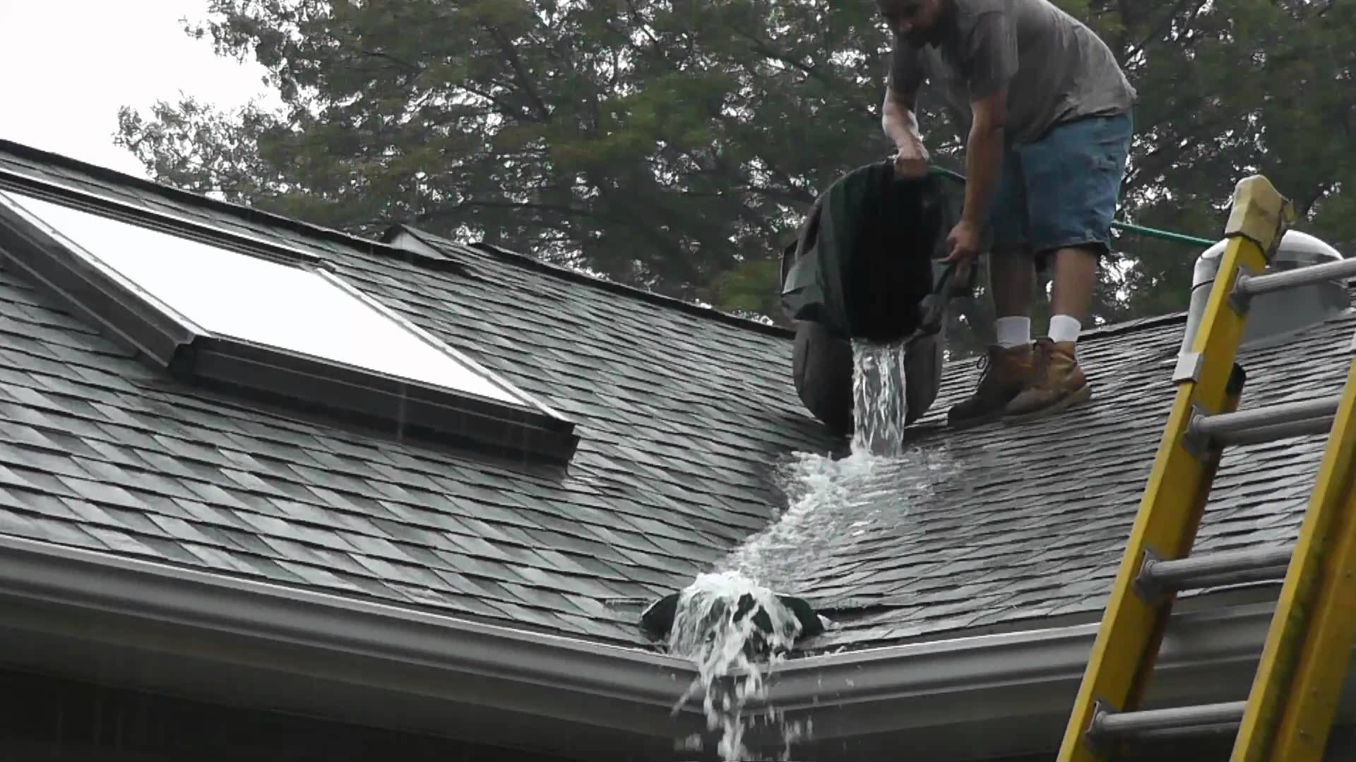 Roof Valley Rain Water Diverter Tests Ideas For Home