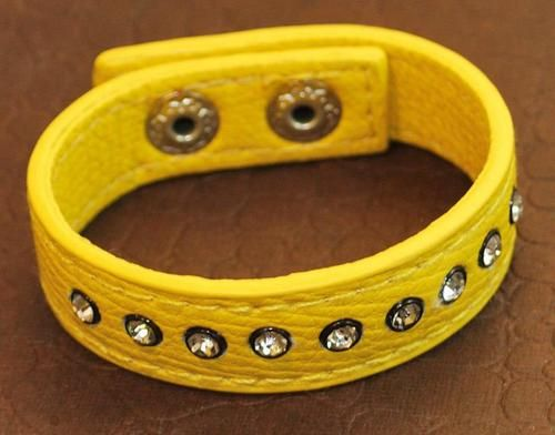 Yellow! Spring Leather Bracelet!