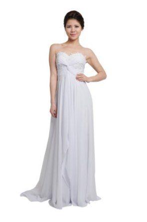 moonar white chiffon corset strapless prom gown elegant
