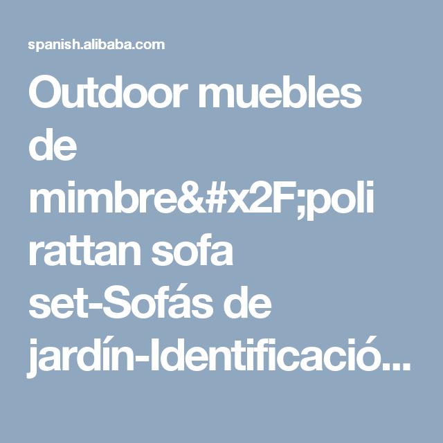 Muebles De Mimbre Al Aire Libre/poly Rattan Sofa Set - Buy Muebles ...