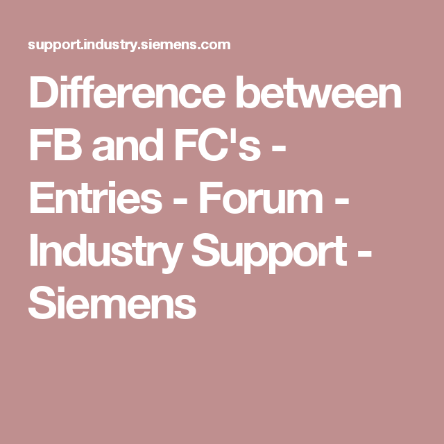 Difference between FB and FC's - Entries - Forum - Industry