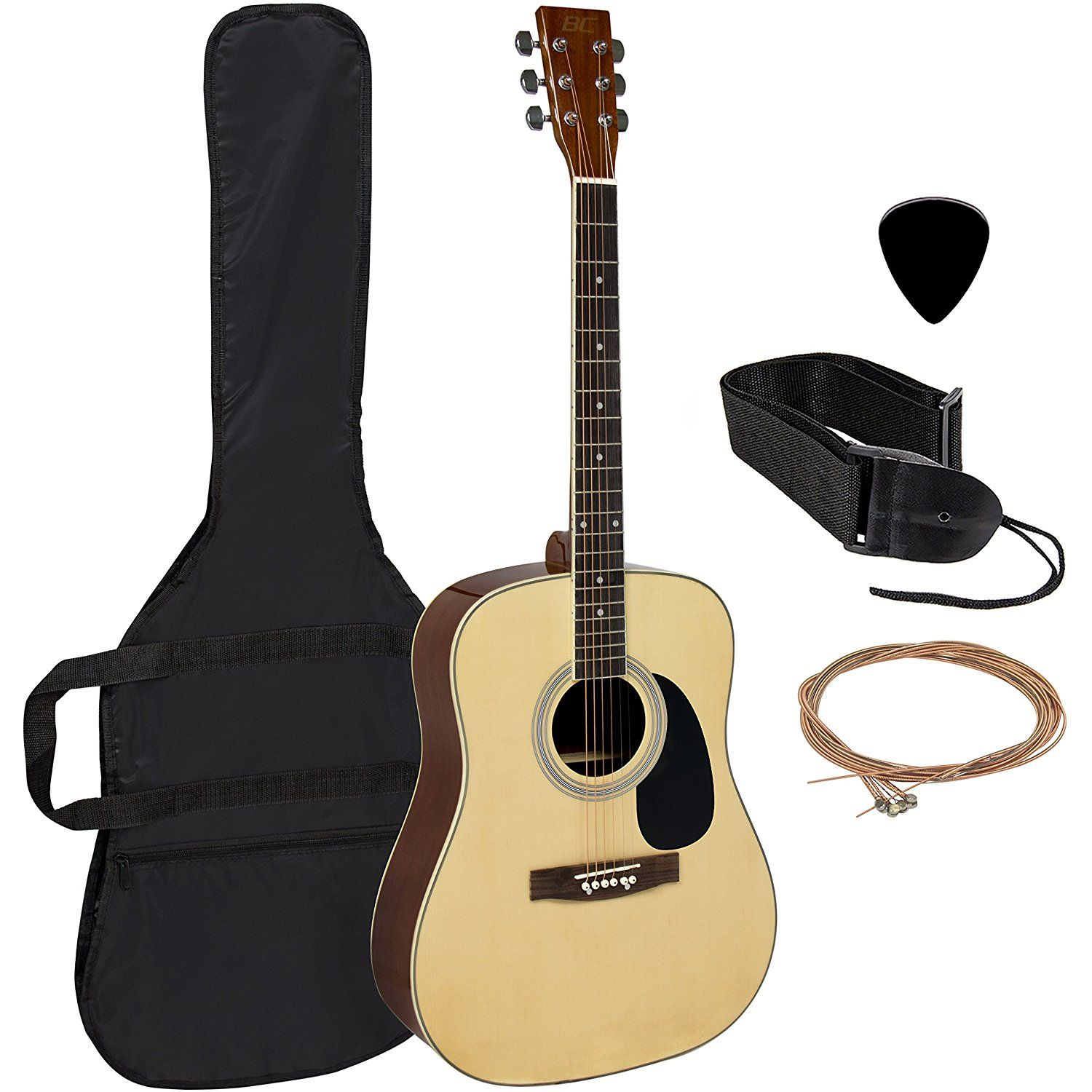 Acoustic Guitar 41 Full Size Natural Includes Guitar Case Strap And More You Can Find More Details By Visiting The Guitar Acoustic Guitar Acoustic