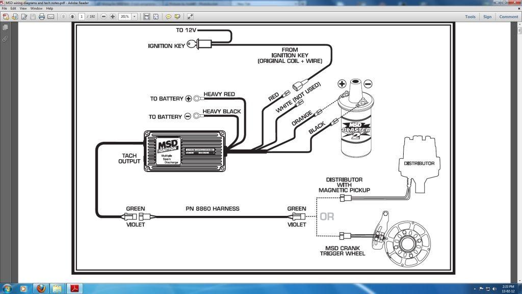 Digital Msd Wiring Diagram | Tachometer, Tesla coil