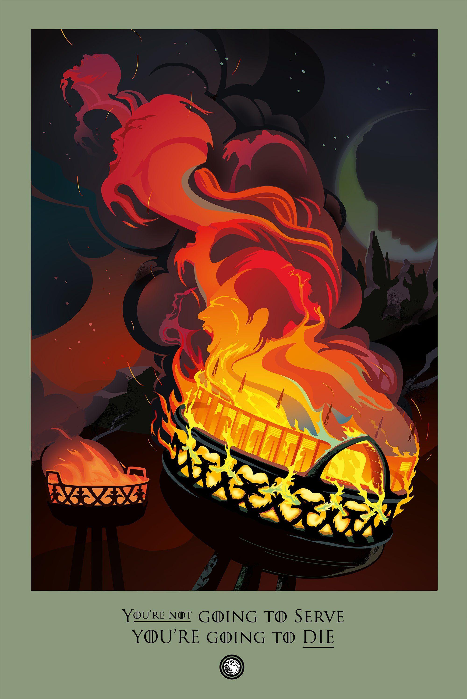 "Digital Illustrator Robert M. Ball Continues His ""Beautiful Death"" Series For Season 6 of Game of Thrones"