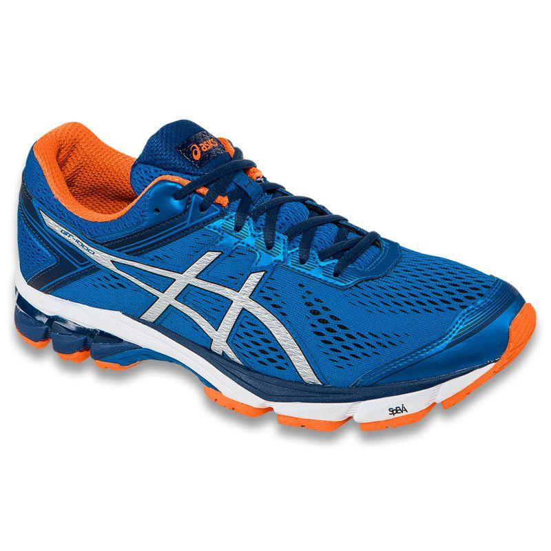 Asics Gt-1000 4 Blue Orange Running Shoes Mens