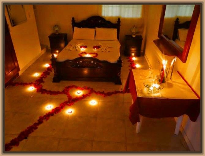 Imagenes de camas decoradas con petalos de rosas rom ntica cena pinterest romantic - Camas decoradas ...