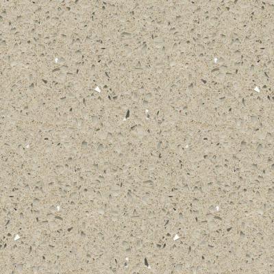 Silestone 4 in quartz countertop sample in stellar cream for Silestone o granito