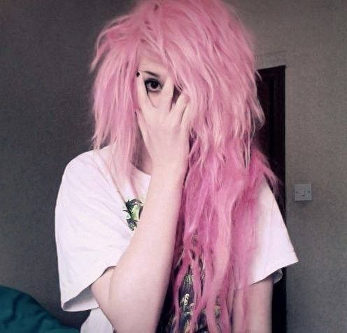 Image via We Heart It https://weheartit.com/entry/157599017 #coloredhair #girl #pink