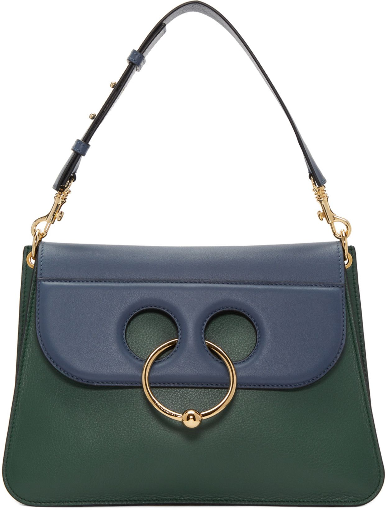 9aeb7f0a1 JW Anderson - Green & Blue Medium Pierce Bag | Leather Handbags ...