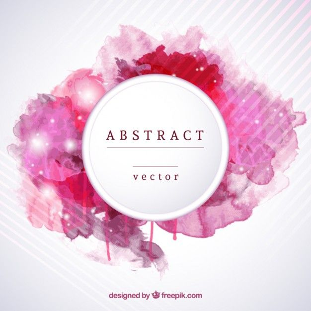 Abstract Background In Watercolor Style Free Vector Blog Graphics