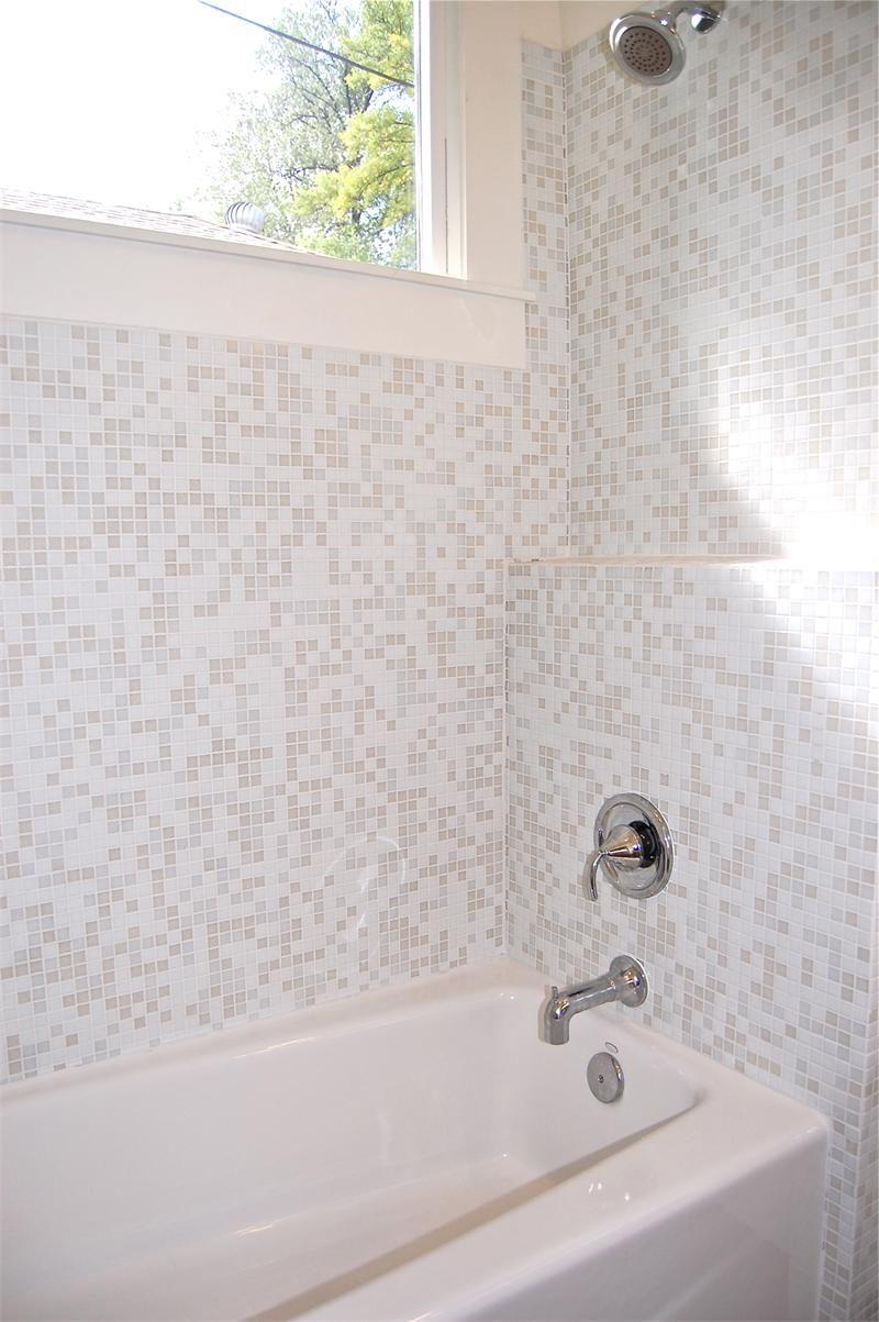 Mosaic Glass Tile White Linen Brio | modwalls Designer Tile | my new ...