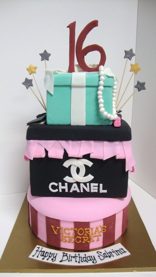 Tiffany Chanel Victoria\'s Secret - Birthday Cakes - TipsyCake ...