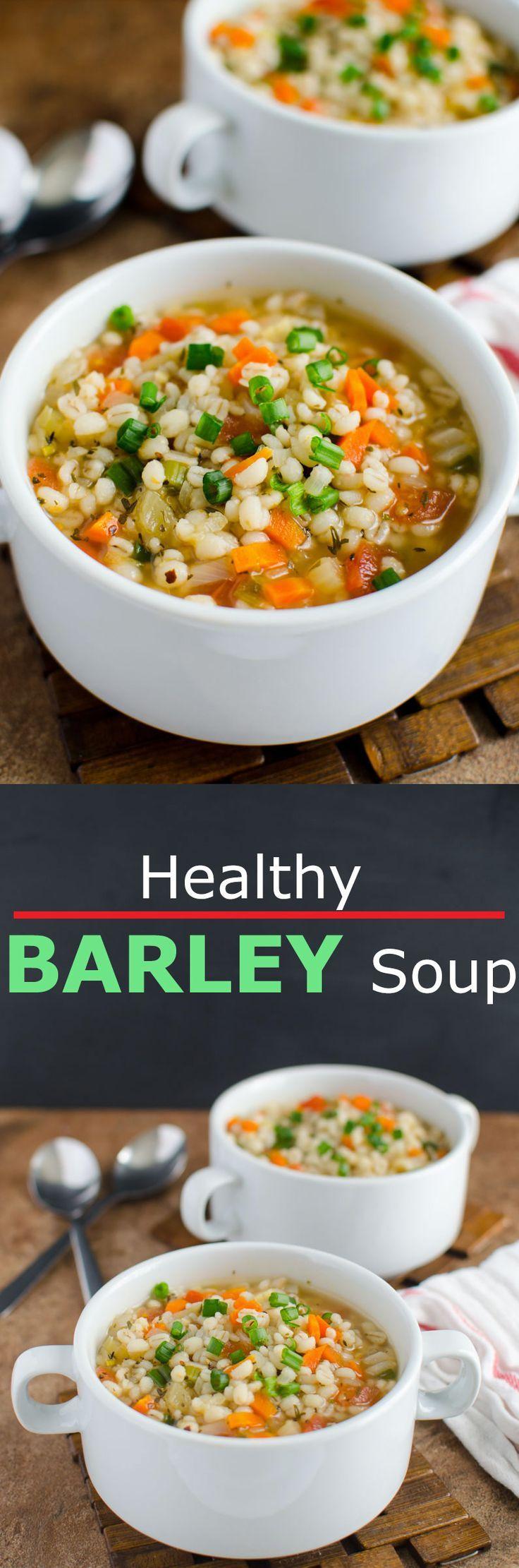 Barley Soup Recipe Healthy recipes, Food recipes, Soup