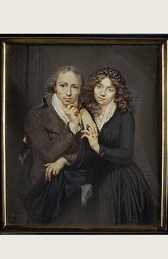 Etienne-Charles LeGuay Portrait du peintre et sa premiere femme Louvre portrait