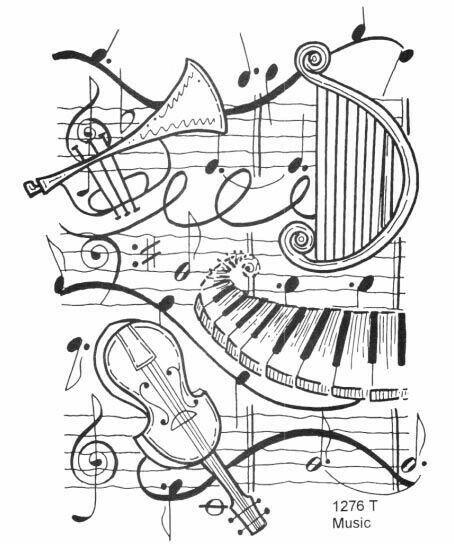 Pintura Instrumento Adult Coloring Pages Desenhos Musica