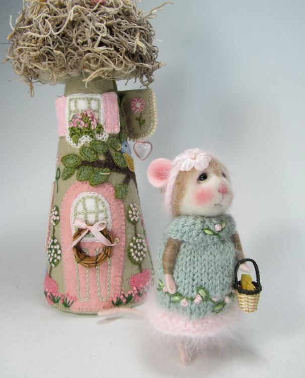 Dressed Mouse/Bunny Class Needle Felted Animal Class / Create BOTH the Bunny and Mouse (Kit Available and sold separately) by barby303 on Etsy https://www.etsy.com/listing/220162888/dressed-mousebunny-class-needle-felted