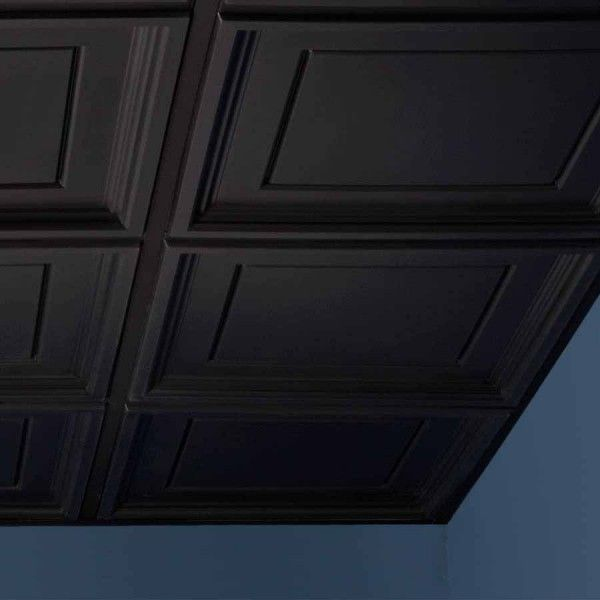 Genesis Ceiling Tile 2x2 Icon Coffer In Black Black Ceiling Tiles Ceiling Tiles Ceiling Tile
