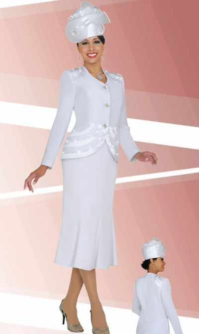 e6cacc3835c74 BenMarc Fifth Sunday 52676 Womens White Church Suit in 2019