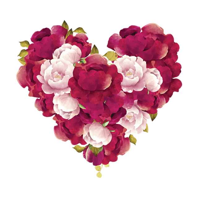 Burgundy Flowers Png Free