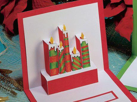 realiza estas hermosas tarjetas con relieve para enviarle a tus seres mas queridos en estas fiestas que se vienen materiales diseo cartulina blanca - Tarjeta De Navidad En 3d