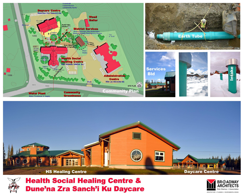 Health social healing centre earthtubes sustainable