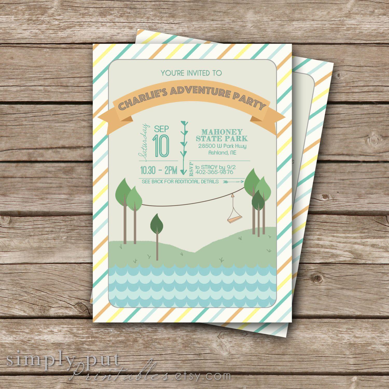 Adventure Birthday Party Invitation Printable