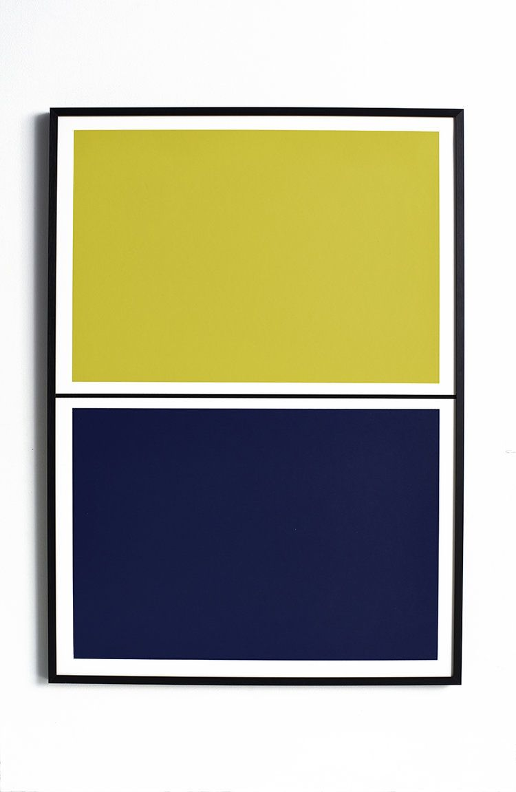 Twin Tone Play Screen Print: Yuzu Yellow & Mariana Blue | Mariana ...