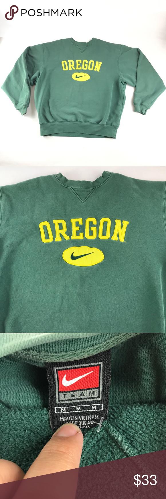 Vintage 90s Nike Oregon Ducks Crewneck Sweatshirt Crew Neck Sweatshirt Mens Sweatshirts Sweatshirts