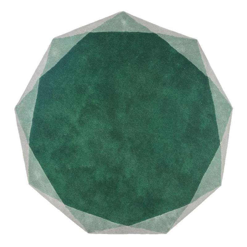 Stella Rug Medium Round Wool Rug In Emerald By Nika Zupanc For