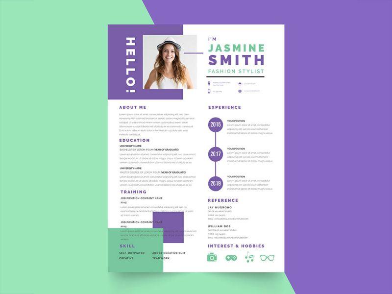 Free fresh stylist resume template resume template