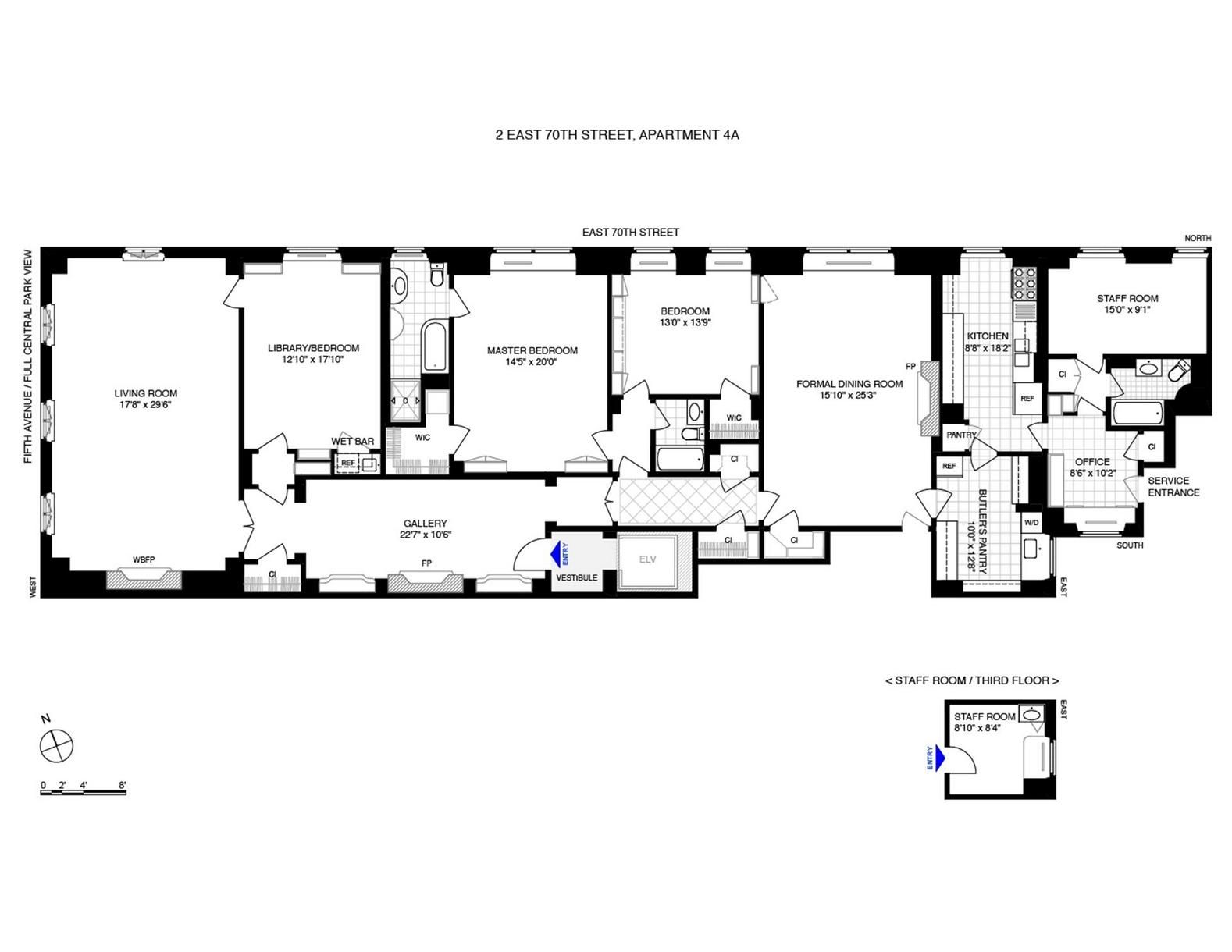 2 East 70th Street 4a New York Floor Plans How To Plan Apartment Building