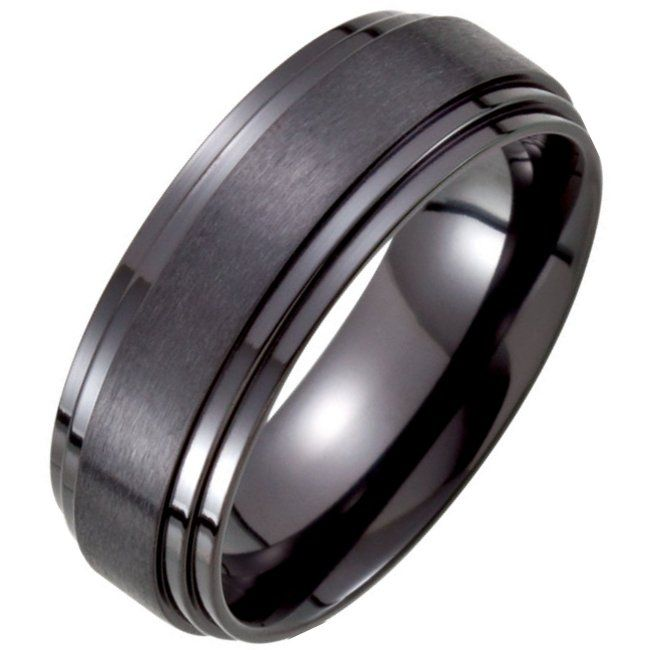 Jewelry Stores Network 6mm Sterling Silver Polished Center Carved Wedding Band Ring