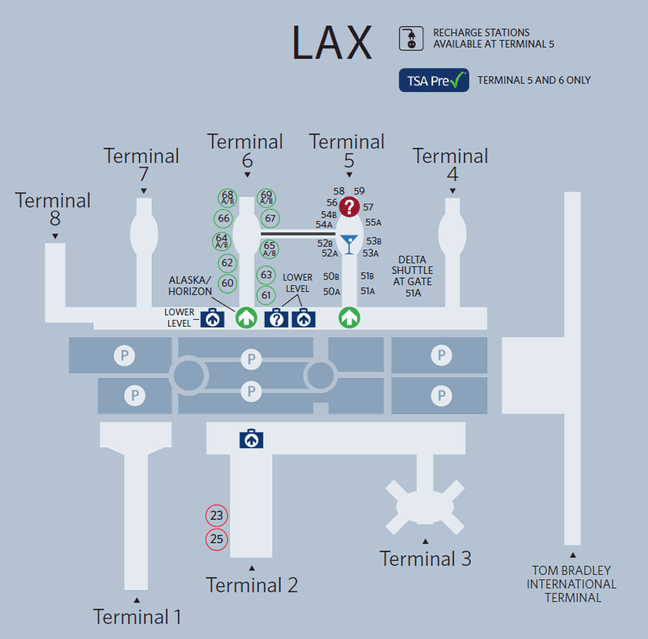 Los Angeles International Airport Map Delta Air Lines Airport Map Airport Design Delta Airlines