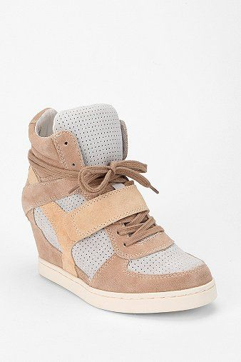 Ash Suede High-Top Wedge-Sneaker