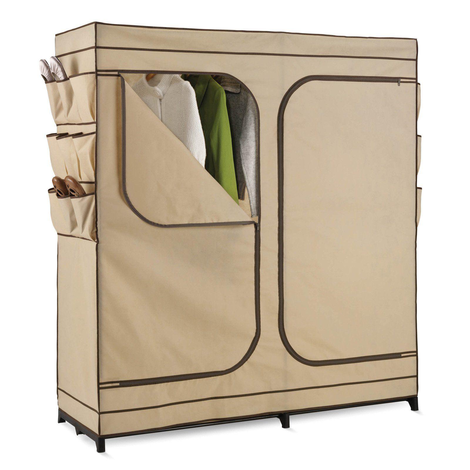 Honey can do in double door storage closet with shoe organizer