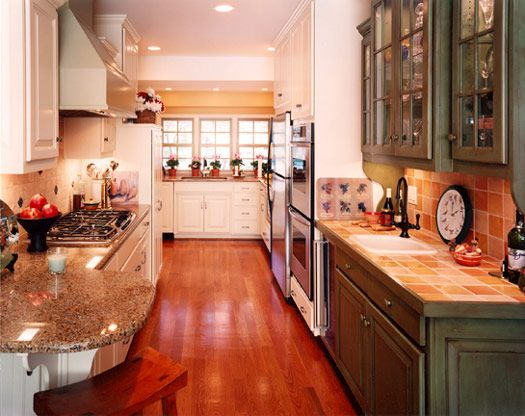 1000+ images about Galley Kitchen Ideas on Pinterest | Green cabinets,  Countertops and Small kitchens