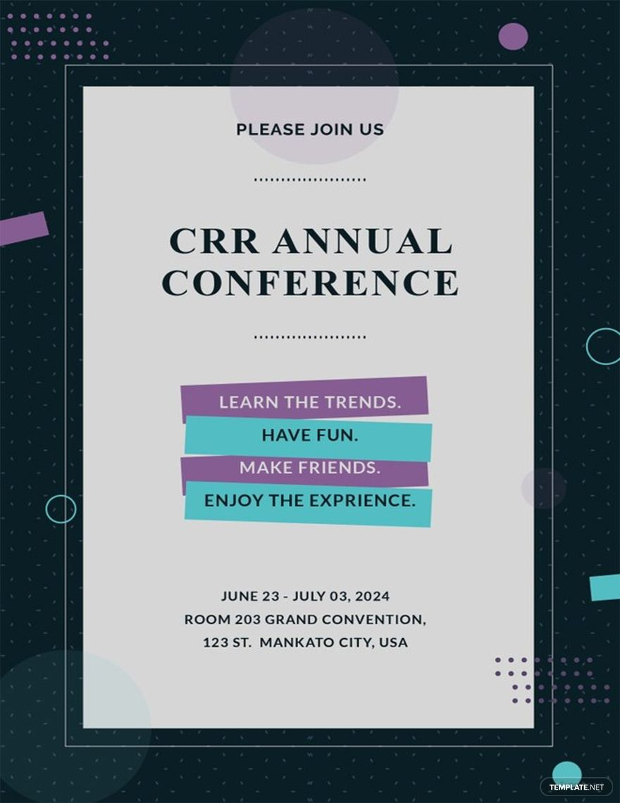 Conference Invitation Template Free Pdf Word Doc Psd Apple Mac Pages Illustrator Publisher Outlook Conference Invitation Invitation Template Invitations