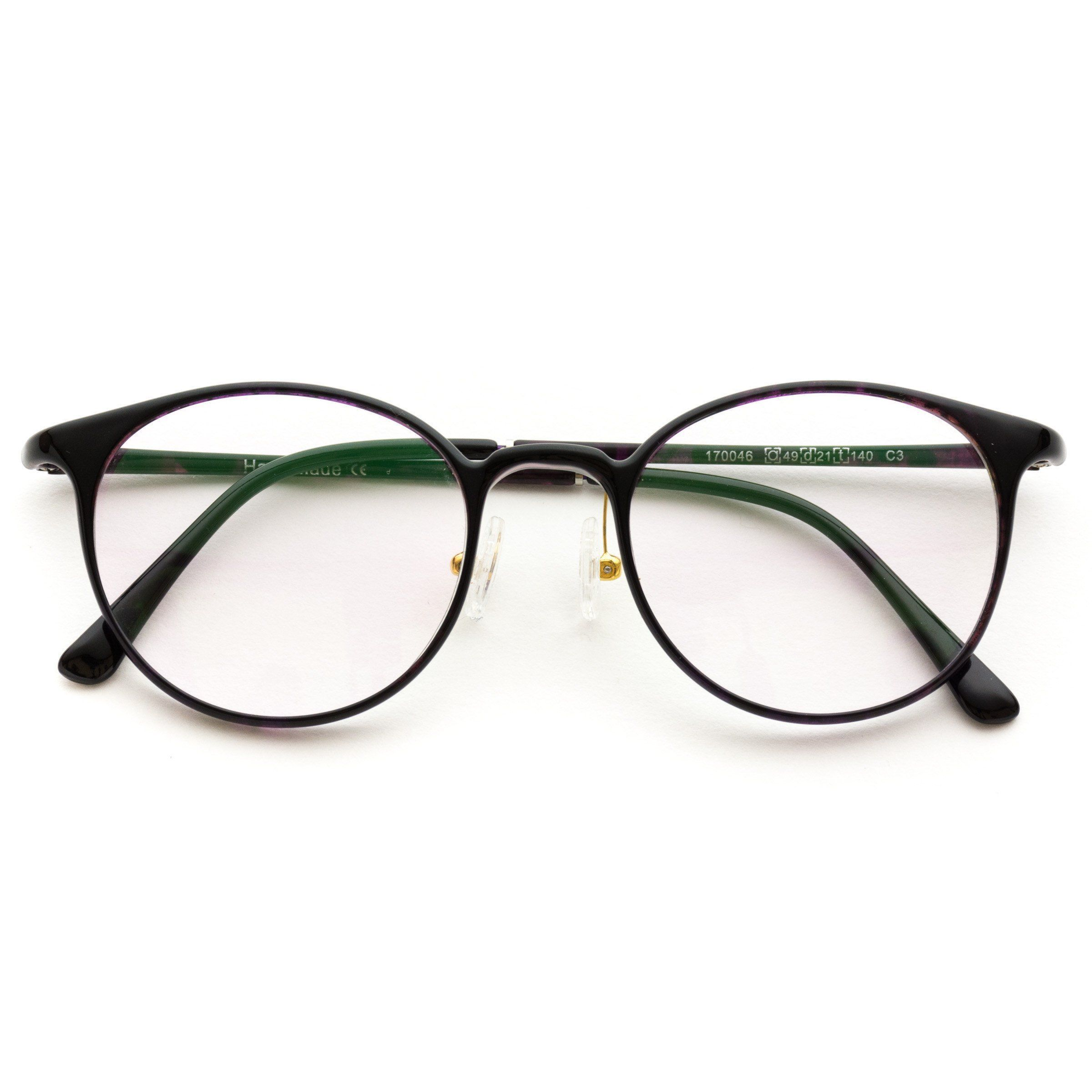 372d56c8e8 Aad Retro Thin Frame Clear Lens Glasses