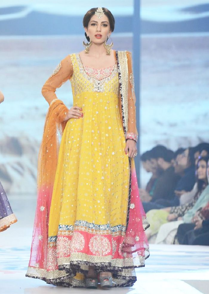 Latest Bridal Mehndi Dresses Collection 2016-2017 ...