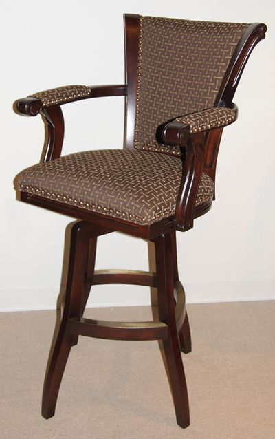 Swivel Bar Stools, Upholstered Swivel Bar Stools With Arms