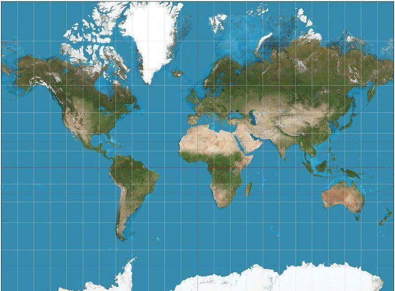 Merkatorova Projekcija I Nerealna Predstava O Izgledu Zemlje New