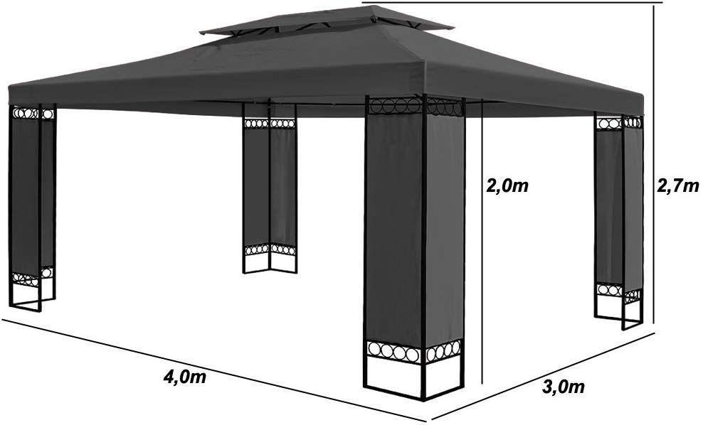 Tonnelle De Jardin Anthracite 3x4m Pavillon De Reception Elda Tente Amazon Fr Jardin Tonnelle Jardin Amenagement Terrasse Pavillon