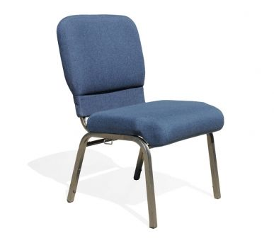 Enclosed Back A Well Constructed Padded Stackable Chair