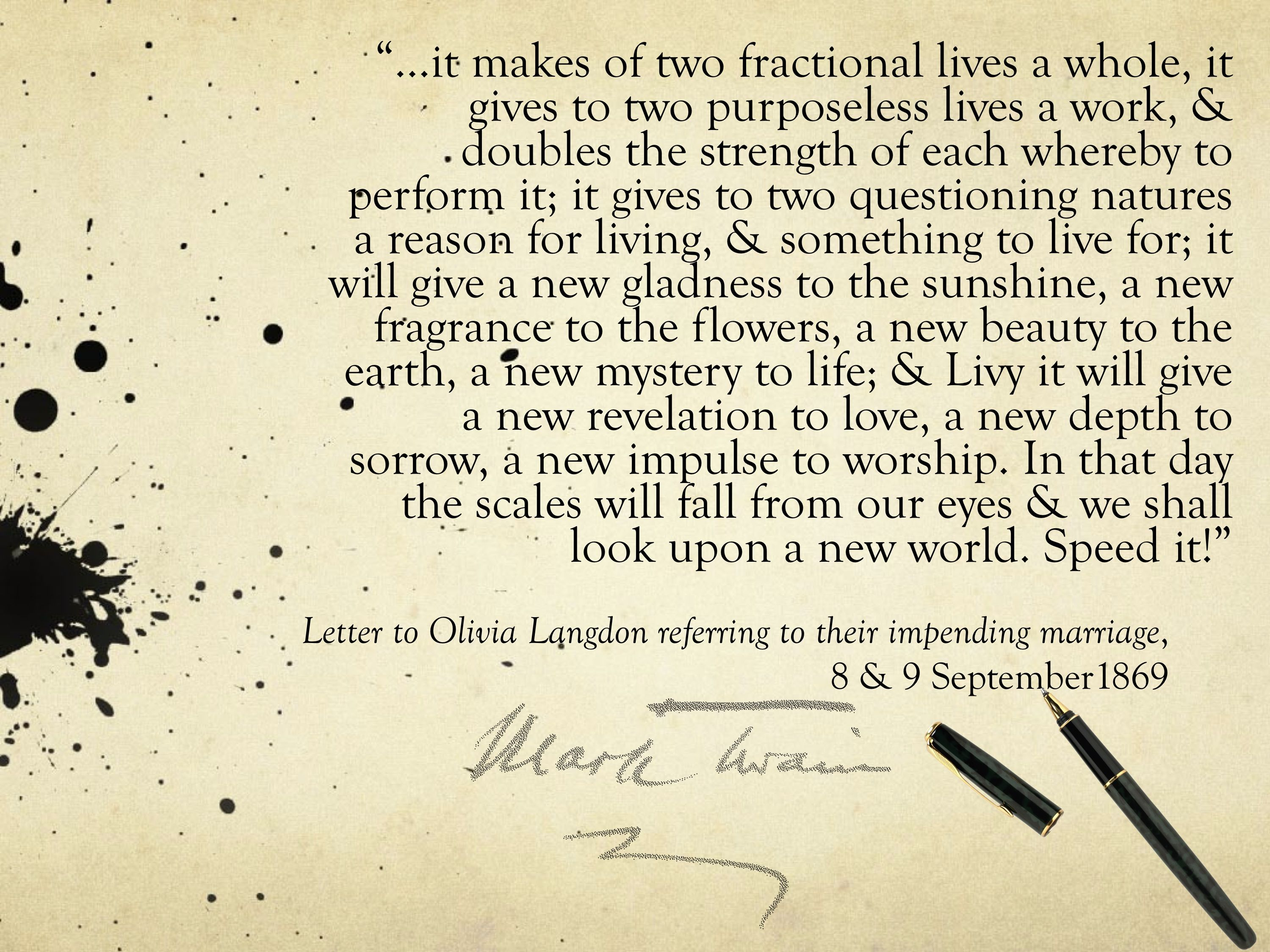 a beautiful wedding quote compliments of mark twain! in 2019