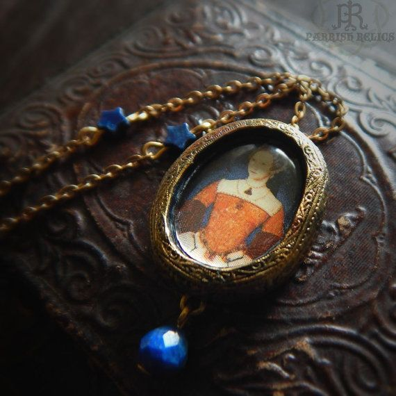 Mary I Amulet  Pictorial Pendant by ParrishRelics on Etsy