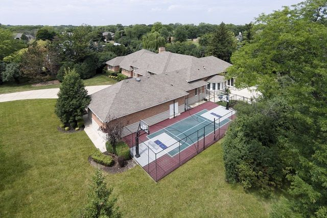 Outdoor Tennis And Basketball Court Highland Park Il